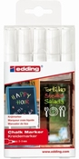 Edding 4095 | Chalk Marker | Krijtstift |  Wit | set van 5