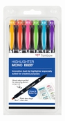 WA-TC-6P Highlighter MONO edge Set 6 pcs
