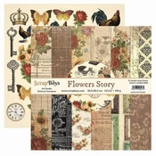 Scrapboys | Flowers Story Paperpad 12