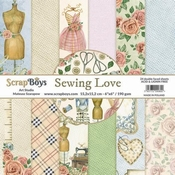 Scrapboys   Sewing Love Paperpad 6