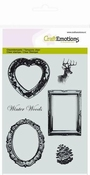 CraftEmotions clearstamps A6 - Winterwoods Lijst | Frames