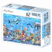 Puzzel 1000 pc - Amy Design - Underwater World - Dolfijn