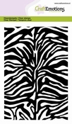 CraftEmotions clearstamps A6 - Tijger Zebra Print