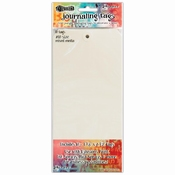 Dylusion Journaling Tags #10   Creme Wit   Off white
