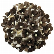 Mulberry Paper Flowers - Sweetheart blossom - 2tone Bruin