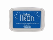 Radiant Neon Electric Blue Ink pad