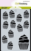 CraftEmotions Mask Stencil cupcakes A6 Carla Creaties