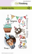 CraftEmotions stempel A6 | Carla Creaties | Party 1