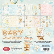 Craft & You | Paperpad 12 x 12 inch - Baby Adventure