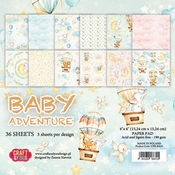Craft & You | Paperstack 6 x 6 inch - Baby Adventure