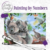 Dotty Design Painting by Numbers - Wild Animals Outback