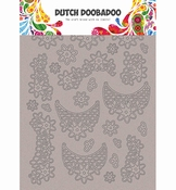 Dutch Doobadoo  Greyboard Art Lace flowers