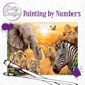 Dotty Design Painting by Numbers - Safari