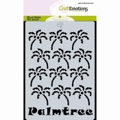 CraftEmotions Mask stencil Palmtree A6 Carla Creatie