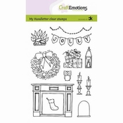 CraftEmotions stempel A6 |  X-mas decorations 2
