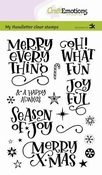 CraftEmotions clearstamps A6 | Merry X-mas (Eng) Carla Kamph
