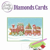 Dotty Designs Diamonds Cards - Christmas Train