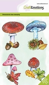 CraftEmotions clearstamps A6 | Paddenstoelen