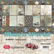 Craft & You | Paperstack 6 x 6 inch - Man's World