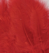 Marabou Feathers,Red,15pcs