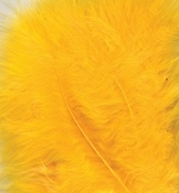 Marabou Feathers,Yellow,15pcs