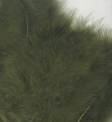 Marabou Feathers,Olive Green,15pcs