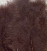 Marabou Feathers,Brown,15pcs