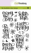 CraftEmotions stempel A6    Enjoy the day superstar