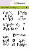 CraftEmotions stempel A6 | Choose to be happy