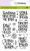 CraftEmotions stempel A6   Sending you lots of love