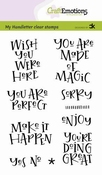 CraftEmotions stempel A6   Wish you were here