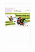 CraftEmotions WaterColorCard | briljant wit 10 vl A5 | 350