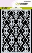 CraftEmotions Mask Stencil Geometrisch Art Deco