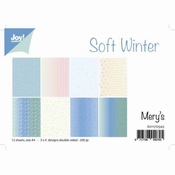 JoyCrafts papier Soft Winter - blauw