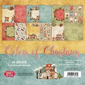 Craft & You | Paperpad 6 x 6 inch - Colors of Christmas