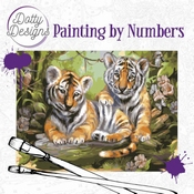 Dotty Design Painting by Numbers - Tijger welpen