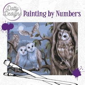 Dotty Design Painting by Numbers - Amazing Owls