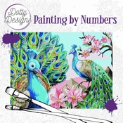 Dotty Design Painting by Numbers - Peacock