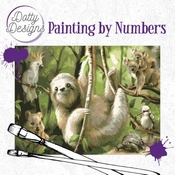 Dotty Design Painting by Numbers - Sloth - Luiaard