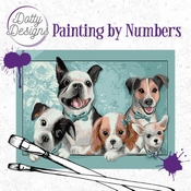 Dotty Design Painting by Numbers - Dogs
