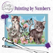 Dotty Design Painting by Numbers - Cats