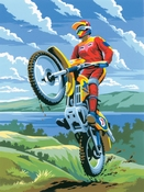 Painting by Numbers Junior Motorcross | A4 formaat