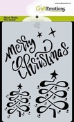 CraftEmotions Mask Stencil Christmas | Merry Christmas