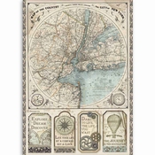 Stamperia Rijstpapier | Sir Vagabond A4 Map of New York