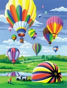 Painting by Numbers Luchtballonen | A4 formaat
