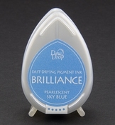 Brilliance Dew Drop inktkussen Pearlescent Sky Blue