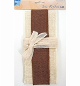 Jute Set ivory - brown - ivory per stuk