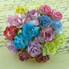 Mulberry Paper Roses